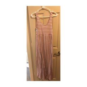 Maternity maxi dress pink blush